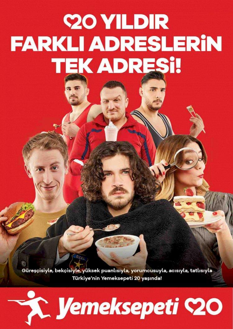 Türkiye'de çalmadık kapı, girmedik yer bırakmayan Yemeksepeti 20'nci yılını kutluyor